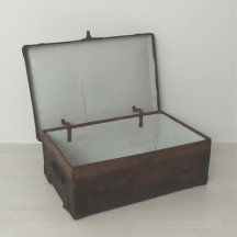 leather suitcase, ca. 1900