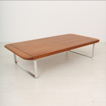 60's teak couch table