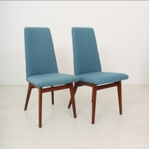 set of 2 scandinavian  60's teak chairs