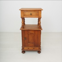 antique cherry tree nightstand, ca 1890
