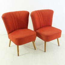 2er Set 50er Jahre midcentury Cocktail Sessel