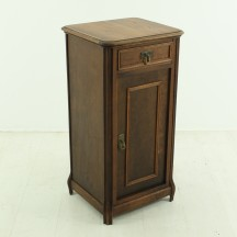 antique small walnut night stand, ca 1900
