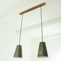 vintage double hanging lamp, ca 1930's