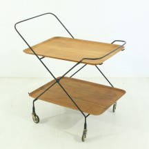 swedish teak serving trolley