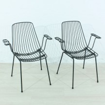 set of 2 60's garden chairs