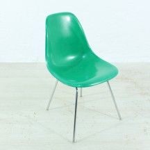 60er Jahre Eames Side chair kellygreen Hermann Miller/Vitra H-Base