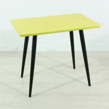 small yellow 50's side table