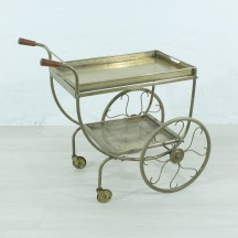 schvedish brass vintage serving trolley by Josef Frank for Svenskt Tenn