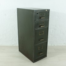 vintage metal drawers cabinet, ca 1930