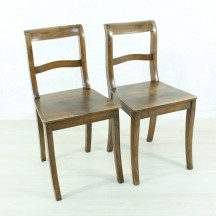 set of 2 Biedermeier walnut chairs
