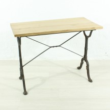 vintage oak side table, ca 1900