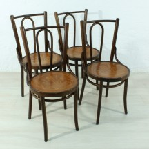 set of 4 bentwood chairs in Thonet Stil