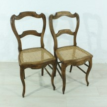 set of 2 Louis Philippe chairs, ca 1870