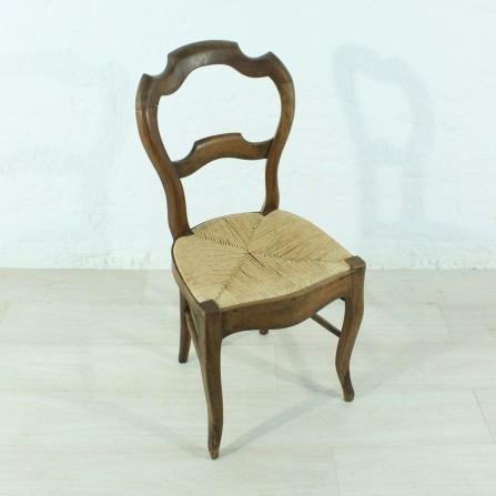 antique Louis Philippe walnut chair, ca 1870