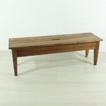antique walnut bench, ca 1850