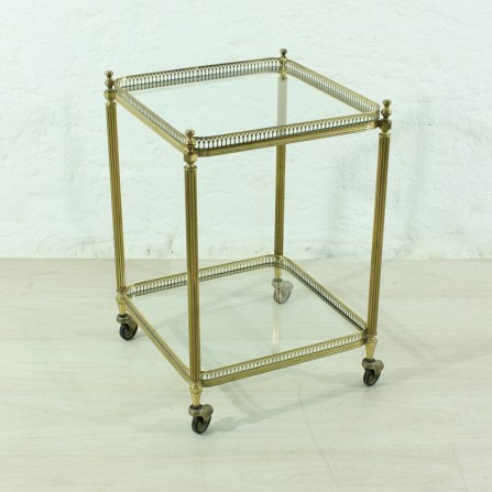 small 50's brass serving table