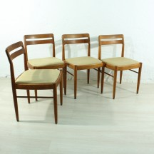 Set of 4 60's teak dining chairs by H.W. Klein for Bramin