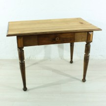 antique beech table, ca 1890
