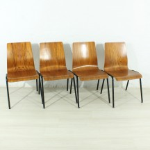 Set of 4 60s teak chairs