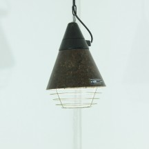 60s East German industrial lamp