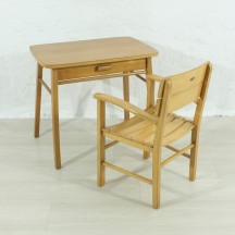 50s set of child table / chair by HERLAG