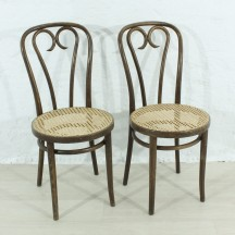 Set of 2 bended chairs, ca 1920
