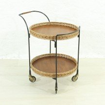 danish teak serving trolley, ca 1960