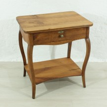 antique cherry wood sewing table, ca 1920