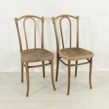 Set of 2 bent chairs thonet style