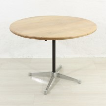 round mid-century dining table