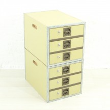 Set of 2 80s drawers boxes