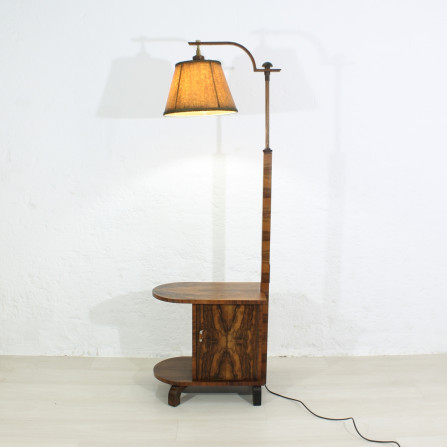 30s Art Deco lamp with end table / side table