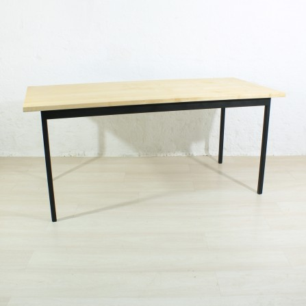 antique maple / metal dining table