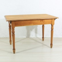 antique cherry tree dining table, ca 1920
