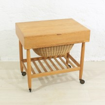 60s danish mid-century sewing trolley by  Ejvind Johansson for Vitré