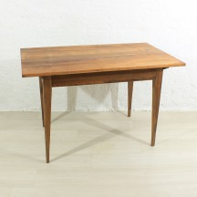 Biedermeier cherry/walnut dining table/desk, approx. 1850