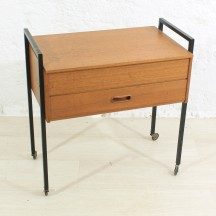 60s sewing trolley / table